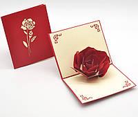 """3D открытка """"Роза"""""""