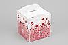 """Коробка """"Кубик с ручкой"""" М0067-о7 """"Серця"""", размер: 115*115*115 мм"""