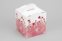 """Коробка """"Кубик с ручкой"""" М0067-о7 """"Серця"""", размер: 115*115*115 мм, фото 1"""