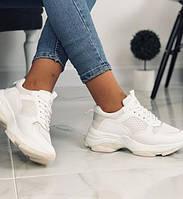 Кроссовки женские на платформе белые размер 36 - 40