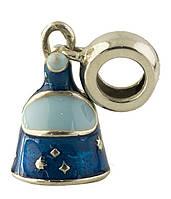 Серебряный шарм Kolibri с емаллю (1347416)