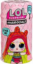"""Игровой набор с куклой L.O.L. S5 W2 Модное перевоплощение в дисплее серии """"Hairgoals"""" Оригинал"""