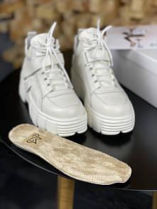 Жіночі Кросівки MS Sneakers Full White (ХУТРО)