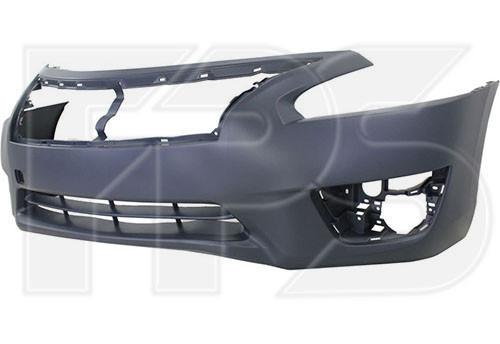 Бампер передний Nissan Altima '12-16 (без отв. под п/троник) (FPS)