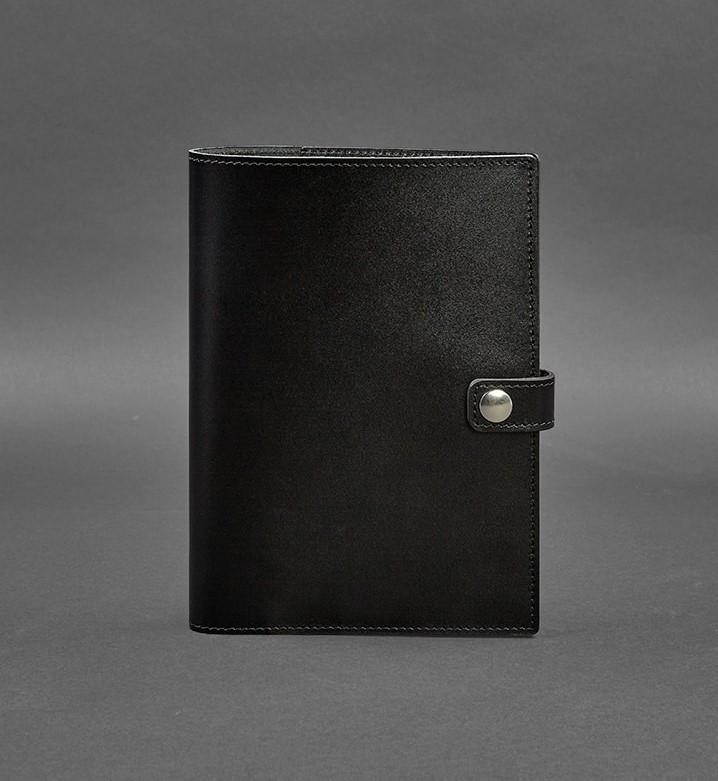 Кожаная папка для блокнота и планшета, софт-бук черный (ручная работа)