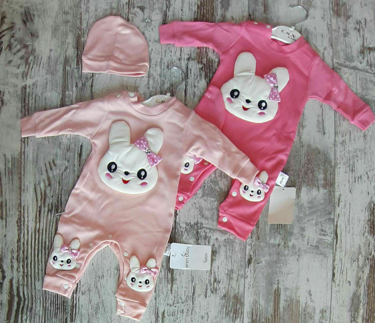 Детский человечек 3-9 мес комбинезон для новорожденных на девочек Турция оптом
