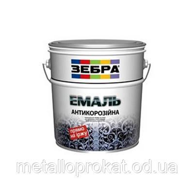 Краска эмаль антикорроз белая Зебра 3 в 1 (2л)