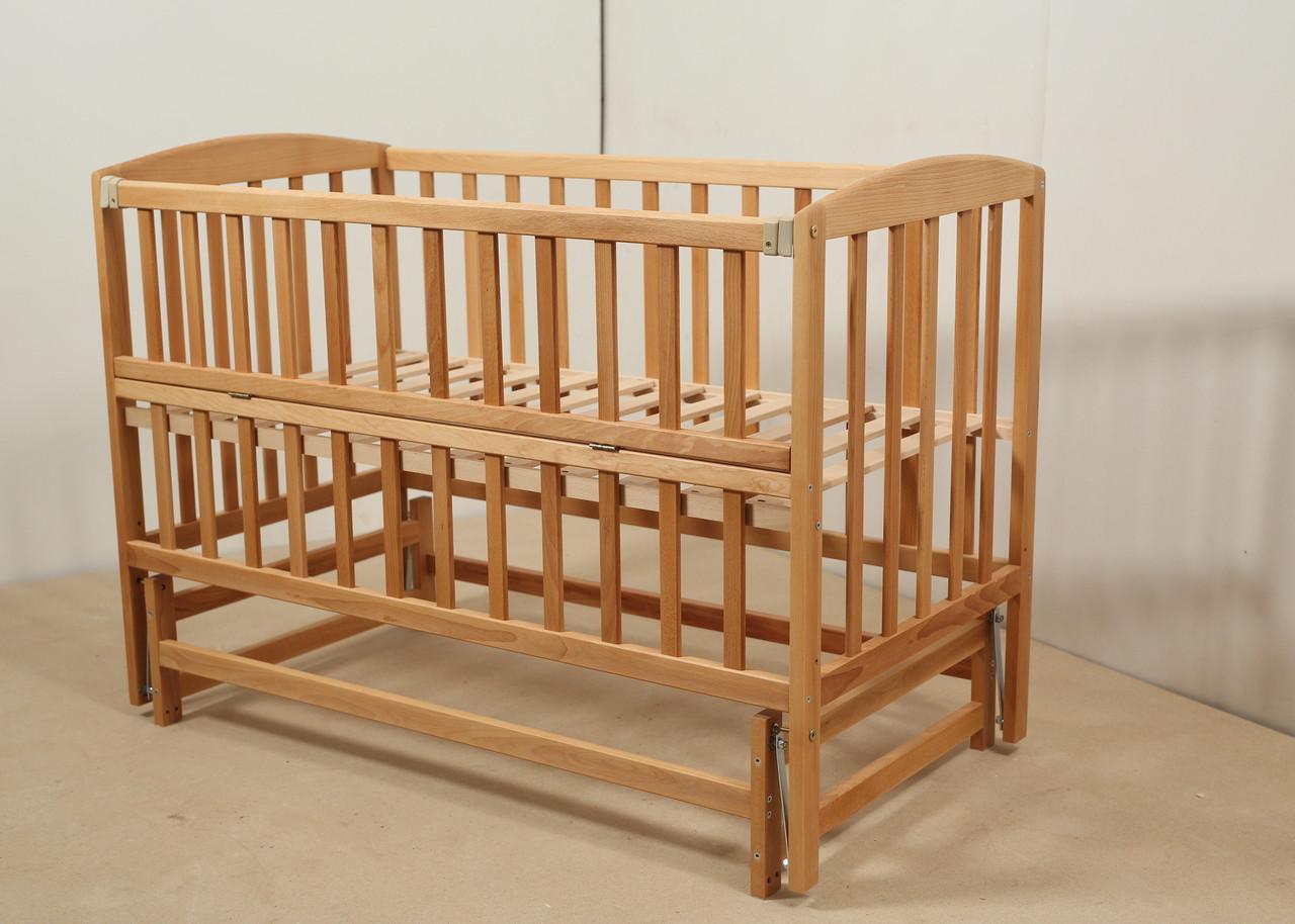 Кровать «VALERI» на подшипниках с откидной боковиной (600 * 1200) (Бук)