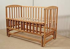 Кровать «VALERI» на подшипниках с откидной боковиной (600 * 1200) (Бук), фото 2