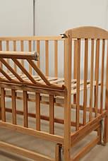Кровать «VALERI» на подшипниках с откидной боковиной (600 * 1200) (Бук), фото 3