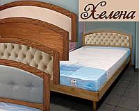 Ліжко односпальне полуторне двоспальне дерев'яне з ящиками «Хелена», фото 1