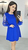 Нарядное платье  с красивыми рукавами