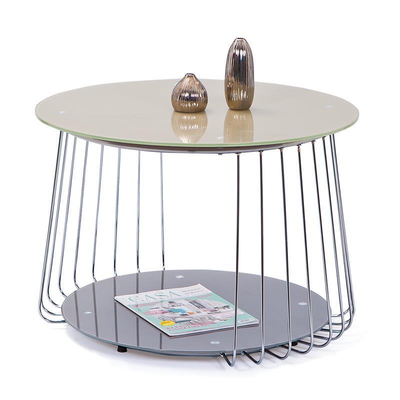 Журнальний стіл RIVA бежевий (70х70х50) Halmar