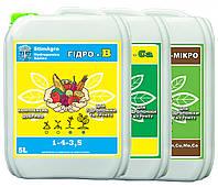 StimAgro КОМПЛЕКТ 3X-5L добрива для гідропоніки та грунту