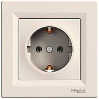 Розетка Schneider-Electric Asfora с заземлением кремовый (EPH2900123)