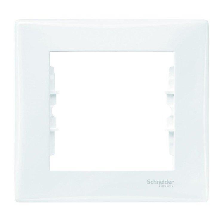 Рамка Schneider-Electric Sedna 1-пост белая (SDN5800121)