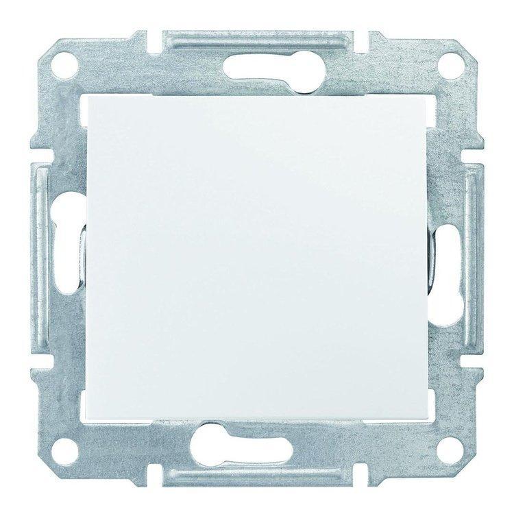Выключатель Schneider-Electric Sedna 1-клавишный белый (SDN0100121)