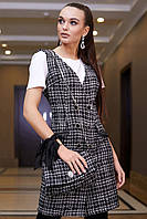 Платье-сарафан 12-1112 - клетка: S  М L XL, фото 1