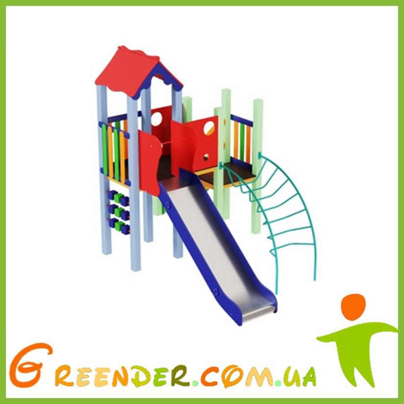 Детский комплекс Уточка, высота горки 1,2 м