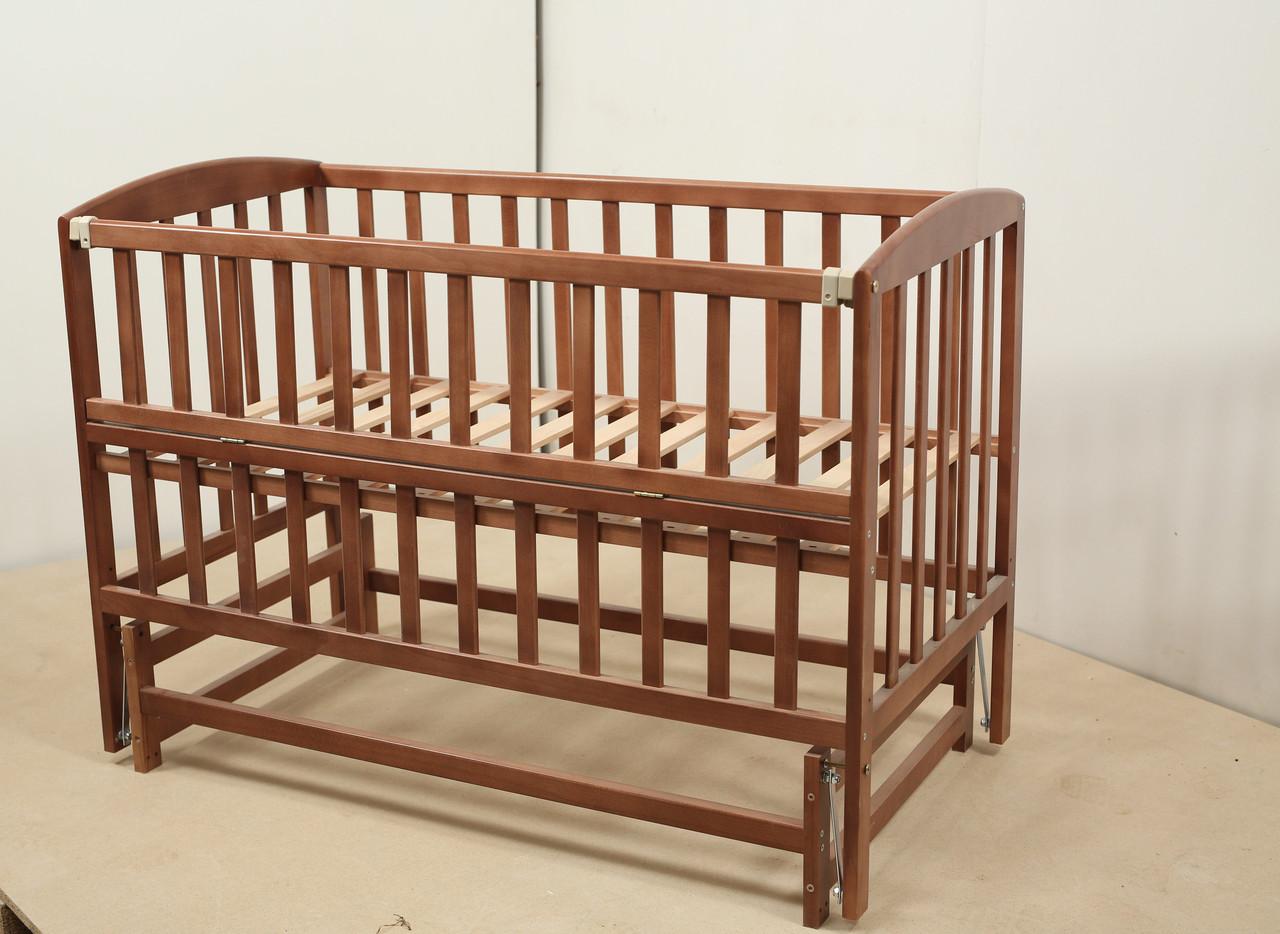 Кровать «VALERI» на подшипниках с откидной боковиной (600 * 1200) (Венге)