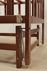 Кровать «VALERI» на подшипниках с откидной боковиной (600 * 1200) (Венге), фото 2