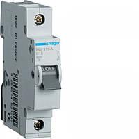 Автоматический выключатель Hager 1P 16A C (MC116A)