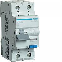 Дифференциальный выключатель Hager 2P 32А 30mA C хар A тип 6kA (AD982J)