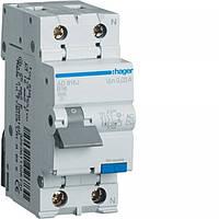 Дифференциальный выключатель Hager 2P 16А 30mA C хар AC тип 45 kA (AD866J)