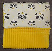 Детский плюшевый плед, в кроватку и коляску панды