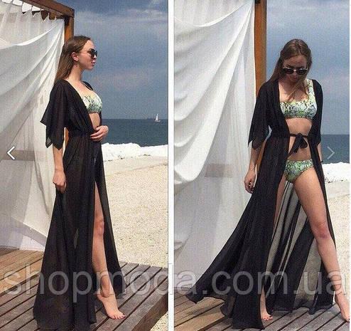 Пляжная длинная накидка, фото 2