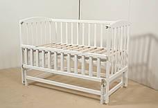Кровать «VALERI» на подшипниках с откидной боковиной (600 * 1200) (Белый), фото 3
