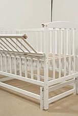 Кровать «VALERI» на подшипниках с откидной боковиной (600 * 1200) (Белый), фото 2