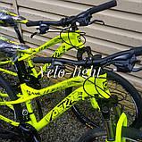 """Велосипед Oskar 24""""FLAME желтый подростковый, фото 7"""