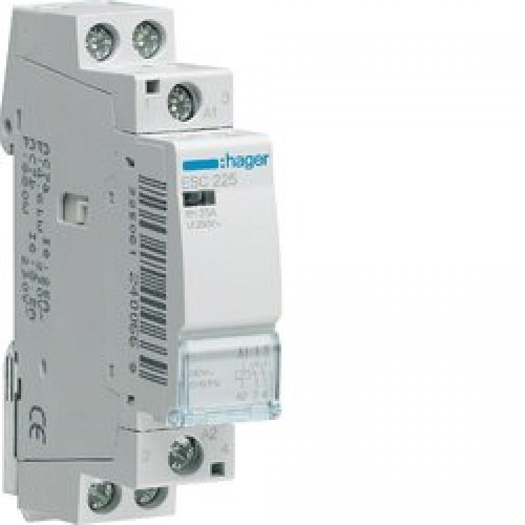Контактор Hager 25A 2НО 230/240В, 50Гц (ESC225)