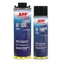 Восковая масса для защиты автомобильных шасси APP W 100 Wax  Aerozol антрацит 0,5л