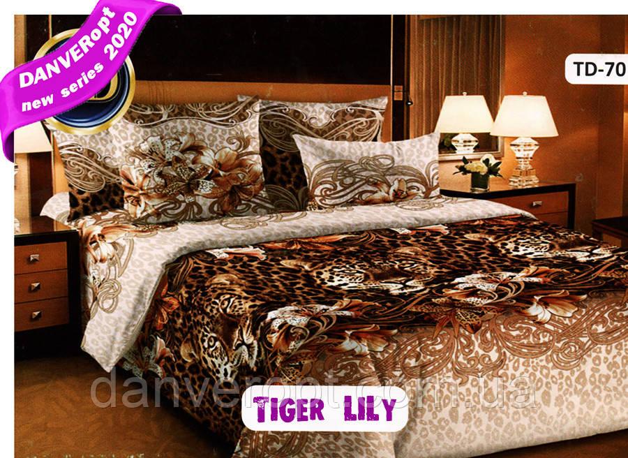 Постільна білизна полуторна TiGER LiLY бавовна розмір 145*215, купити оптом зі складу 7км Одеса