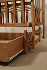 Кровать «VALERI» на подшипниках с откидной боковиной с ящиком (600 * 1200) (Бук), фото 3