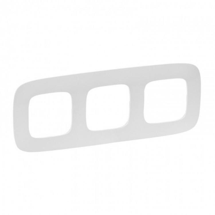 Рамка Legrand Valena Allure 3-постовая, белый