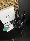 Женские Ботинки MS Boots Full Black МЕХ, фото 3