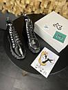 Женские Ботинки MS Boots Full Black МЕХ, фото 6