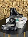 Женские Ботинки MS Boots Full Black МЕХ, фото 7