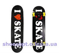 Скейтборд скейт I love skate полупрофессиональный
