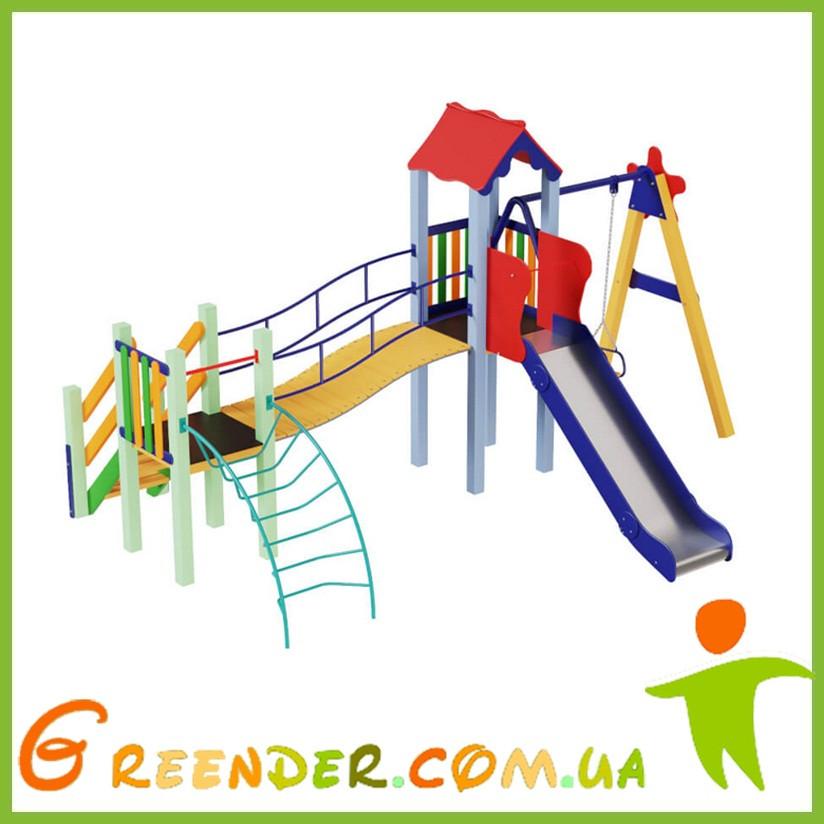 Металлические детские площадки Верблюжонок, высота горки 1,2 м