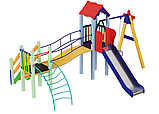 Металлические детские площадки Верблюжонок, высота горки 1,2 м, фото 2