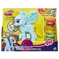 Пластилин Плей До Стильный салон Рейнбоу Дэш B0011 Play-Doh My Little Pony Rainbow Dash Style Salon