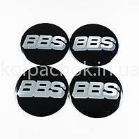 Наклейки для колпачков на диски BBS черные (56мм)