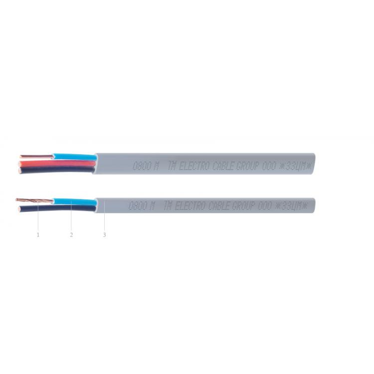 Кабель ЗЗЦМ ВВГ-П нг 2x1.5 многож. многож. (ZZ-9086)