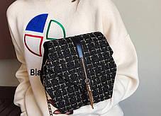 Мини - сумка оригинальной формы с отделкой из шерсти, фото 3