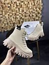 Женские Ботинки MS Boots Apricot (МЕХ), фото 2