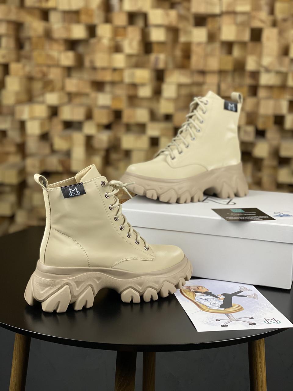 Женские Ботинки MS Boots Apricot (МЕХ)